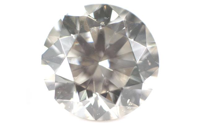 天然グレーダイヤモンド ルース(裸石) 0.363ct 【 ライトイエローイッシュグレー 】 【中央宝石研究所】 【送料無料】【round030】【round040】