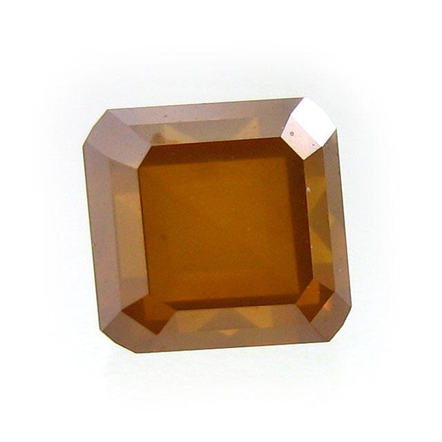 オレンジダイヤモンド ルース 1.005ct, Fancy Deep Brownish Yellow Orange, I-1, Modified Square Step Cut, AGT 【送料無料】【1ctUP】