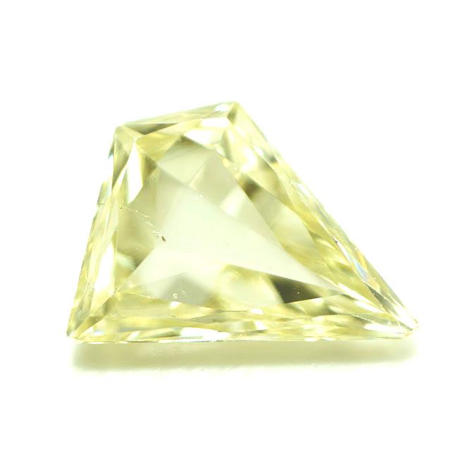 【 Under S (Light Yellow) カラー 】天然イエローダイヤモンド ルース(裸石) 0.169ct, SI-1, ファンシー・カット【 中央宝石研究所ソーティング袋付 】 【 送料無料 】