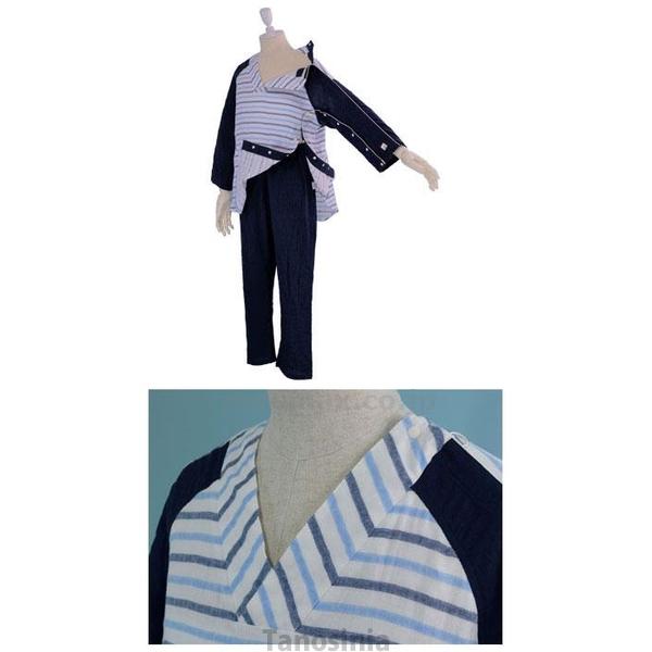 介護用品 紳士用 イージー オン・オフ療養パジャマ メンズ 胃ろうチューブ 気管チューブ 対応