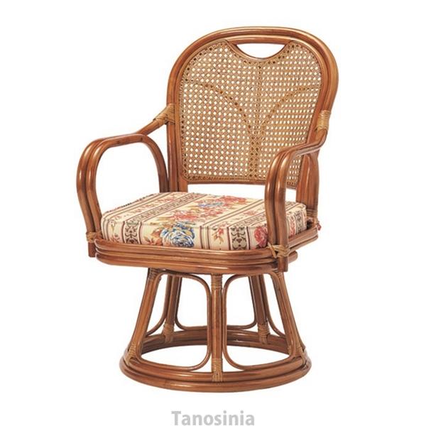 ラタン回転椅子ミドルチェア R-390S