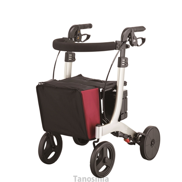 介護用品 歩行車 リトルターン 電動アシスト付 ワインレッド アロン化成 532-319 歩行器 介護用 リハビリ 高齢者用