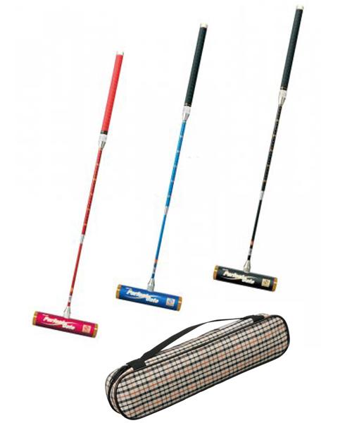 ニチヨー ゲートボール コンパクトズームシャフトとフリーバランスヘッドとスティックケースの3点セット  NICHIYO GateBall pb-gb
