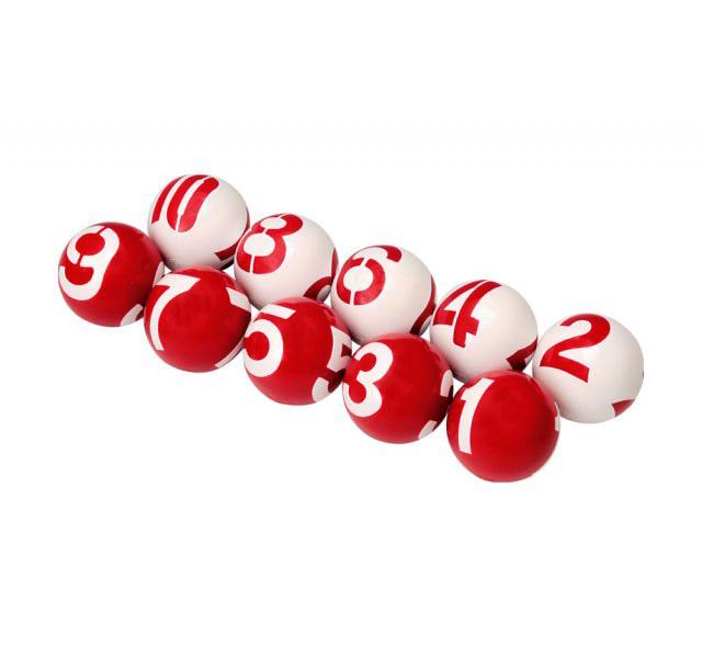 ゲートボール 3ヶ所数字ボール 10個セット ニチヨー