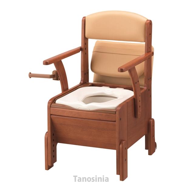 安寿 家具調トイレ コンパクト 533-670 標準便座 アロン化成 ポータブルトイレ 簡易トイレ 介護用品 介護トイレ