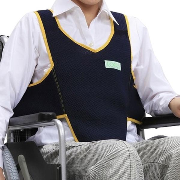 座位姿勢の保持と看護 車いす用ワンタッチベルト キーパーエコ オンライン限定商品 ネイビー 403657-19 本物◆ メッシュ