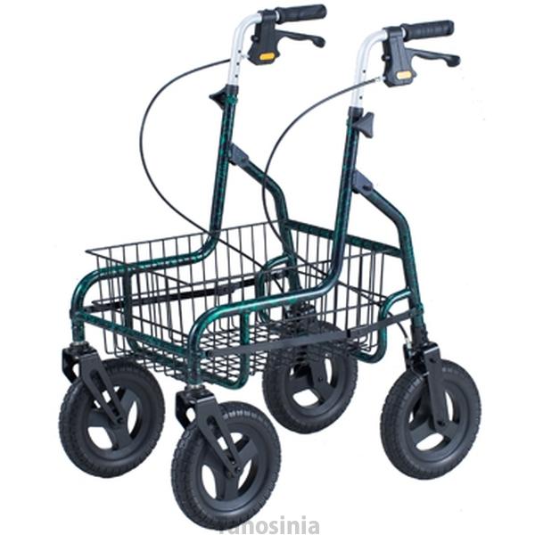 折りたたみ歩行車 セーフティーアーム ロレータキャリー 大型タイヤ RSCA 歩行器 介護用品 イーストアイ