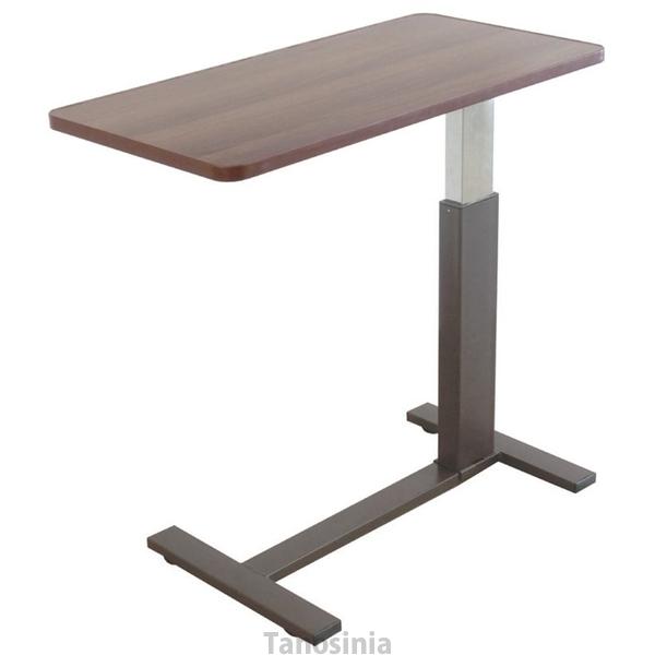 昇降サイドテーブル(低床キャスタータイプ) / DT-4301 ブラウン 介護用品 介護用