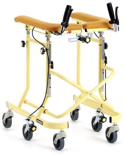 6輪歩行器 らくらくウォーカー ホップステップ SM-40S スモールタイプ 在宅用 リハビリ hkz 介護用品