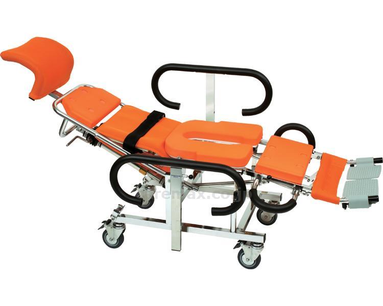 リクライニング シャワーキャリー AL7 No.5800 フルフラット 足元独立連動型 介護用