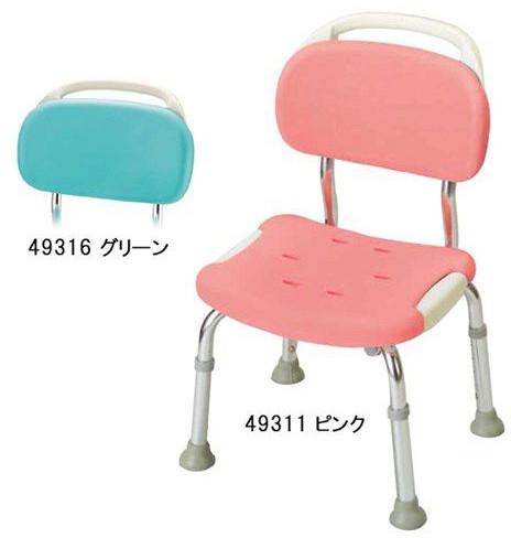 シャワーチェア 介護用品 風呂椅子 やわらかシャワーチェア 背付コンパクト 49311