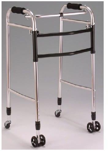 クリスタル ウォーカー 交互固定兼用折り畳型 AL-102 歩行器 リハビリ 歩行補助 高齢者用 hkz