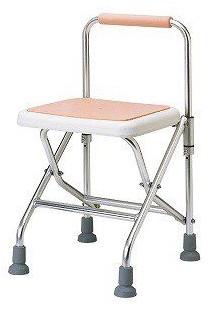 シャワーチェア ベンチシャワー 介護用品 風呂椅子 アルミ製シャワーチェア 折りたたみ式 TY543F-P