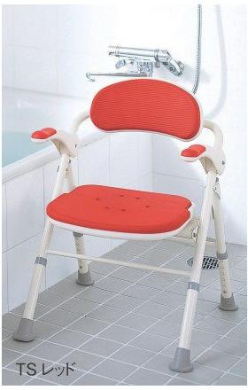 シャワーチェア 折りたたみ 介護用 風呂いす 折りたたみTS ひじ掛け付 535-466 アロン化成