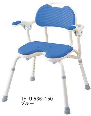 シャワーチェア シャワーベンチ 介護用品 風呂椅子 ひじ掛け付 TH-U U型 536-150 アロン化成