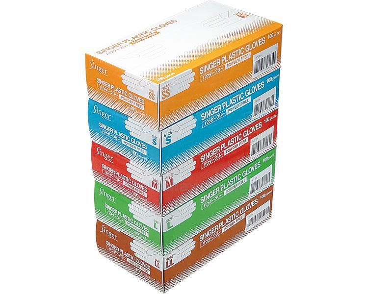 シンガープラスチック手袋PF 20箱 1ケース 介護用品