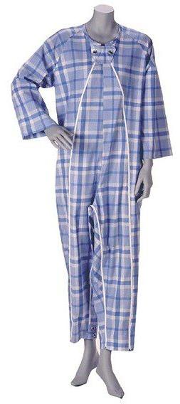 介護用品 寝巻き フドーねまき2型 厚手 介護用パジャマ 介護パジャマ つなぎ 冬物