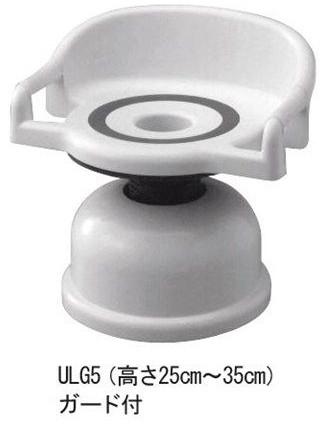 シャワーチェア ベンチシャワー 回転いすユーランド ロータイプ 安心ガード付 ULG5 座面回転