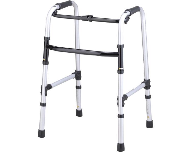 固定式歩行器 折りたたみ ホームタイプ リハビリ 歩行補助 高齢者用 介護用品 hkz