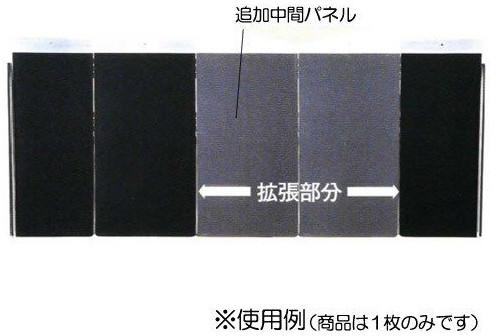 アルミシステムスロープ 追加中間パネル1.5m PVX150M 〔k294539〕 介護用品