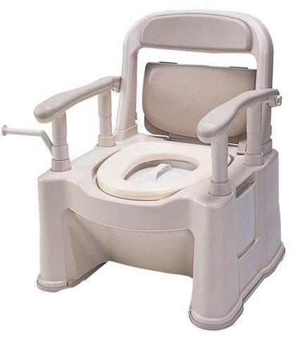 排泄 介護用品 ポータブルトイレ座楽 背もたれ型SP 標準タイプ VALSPTSPBE パナソニック電工ライフテック