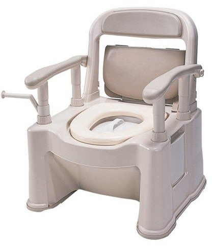 ポータブルトイレ座楽 背もたれ型SP 小口径便座タイプ VALSPTSPMB 介護用品