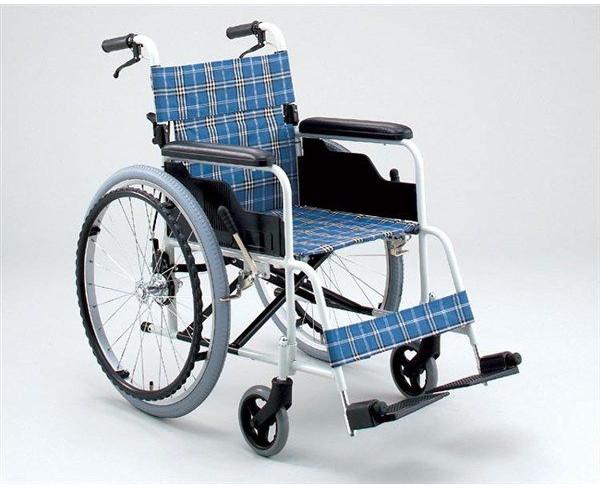 アルミ自走用車いす TK-10CB ノーパンク ハイポリマー タイヤ仕様 hkz 介護用品
