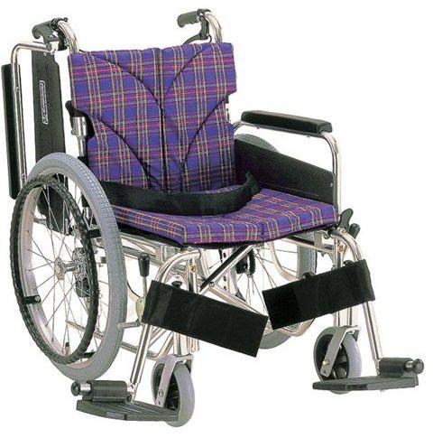 アルミ自走用車いす 簡易モジュール KA822-38・40・42B-M 中床タイプ hkz 介護用品
