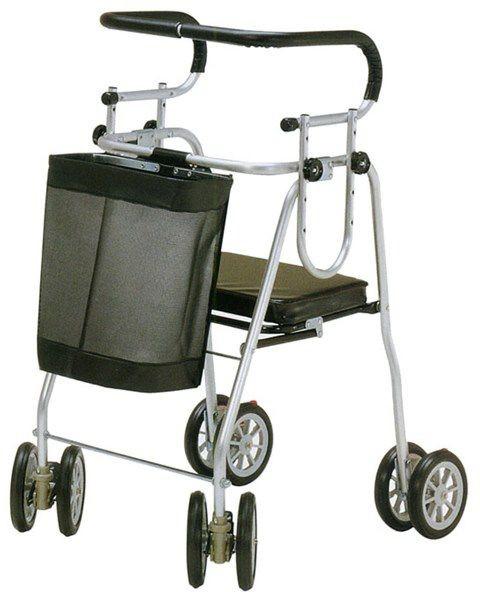 歩行器 介護 アシストシルバーカーニューデラックス フットストッパー付 H007 歩行車 リハビリ hkz