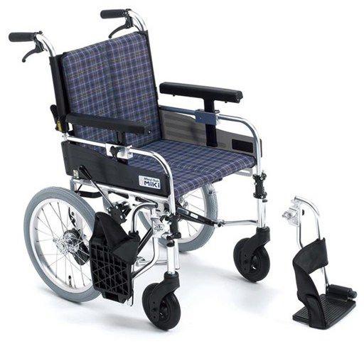 アルミ介助式車椅子 MYU-166JDSW μ-C3 μシリーズ hkz 介護用品