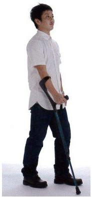 介護用品 松葉杖 エルゴグリフクラッチ レギュラーサイズ クローズドカフタイプ クラッチ hkz