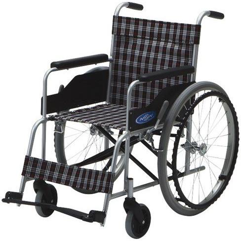 ノーパンクタイヤ アルミ製自走車いす NC-1H 介護用品 車椅子 hkz