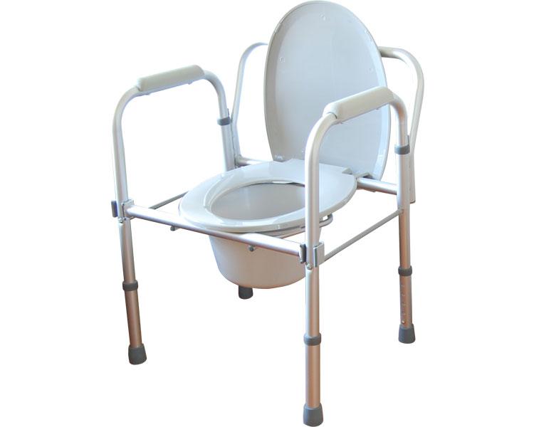 トイレチェア ユニトイレ・安心 折りたたみタイプ ポータブルトイレ 介護用品