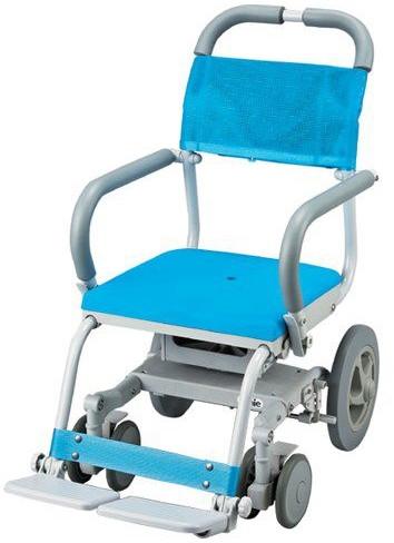 シャワーキャリー くるくるチェアD 穴無しシート KRU-173入浴用車椅子