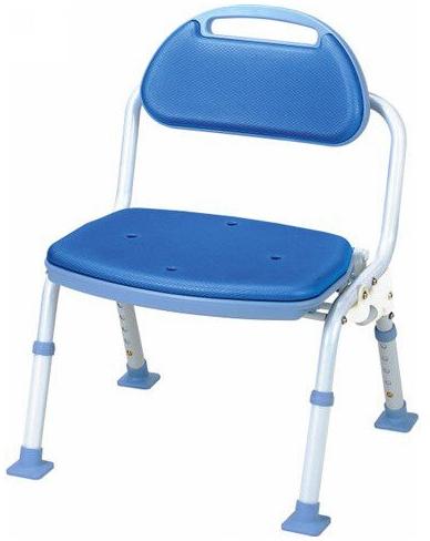 シャワーベンチ 介護用品 風呂椅子 折りたたみ 背付き SBF-11BL