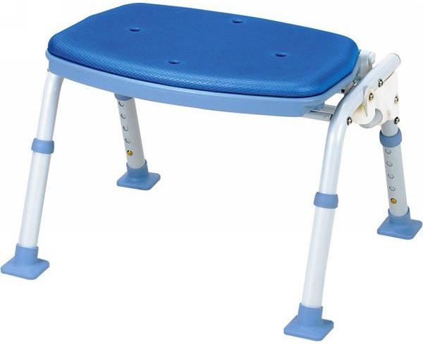 シャワーベンチ 介護用品 風呂椅子 折りたたみ 背なし SBF-12BL