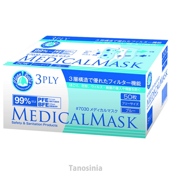 40 Boxes Pieces White One Containing Case Mask 3ply 50 Of Medical