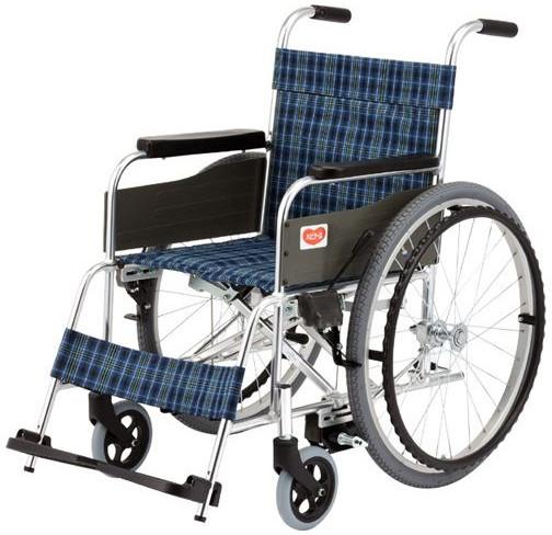 標準型車いす ロックアシスタ T-1Lo-LA 低床背折れタイプ 車椅子 介護用品 hkz