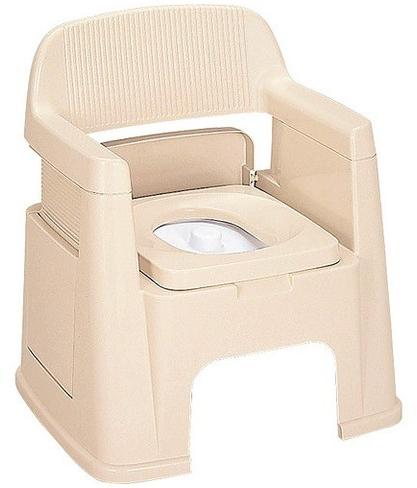 ポータブルトイレ 背もたれ型 ベージュ 介護用品