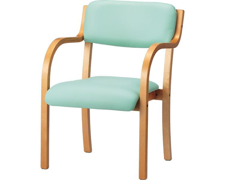 介護用品 木製椅子 NXタイプ 施設向け 木製肘付きチェア NX-FB02J プラス 組み立て不要
