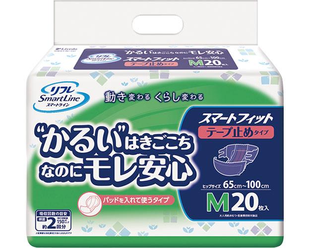 スマートフィット テープ止め M / 17190 20枚×6袋 1ケース 介護用オムツ 大人用紙おむつ (ケース販売)