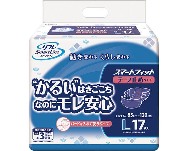 スマートフィット テープ止め L / 17191 17枚×6袋 1ケース 介護用オムツ 大人用紙おむつ (ケース販売)