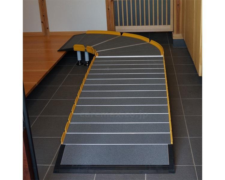 介護用品 車いす用スロープ Lスロープ 1000 643-110 全長210cm 車椅子 バリアフリー アルミ