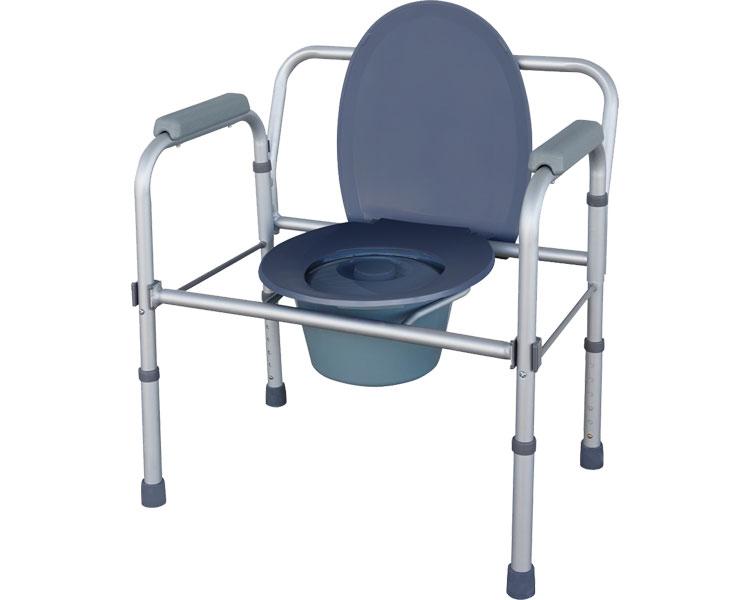トイレチェア ユニトイレ・安心 ワイドタイプ 折りたたみ ポータブルトイレ 介護用品