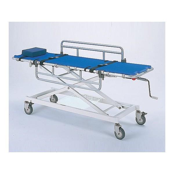 アルミ浴室用ストレッチャー 昇降式 担架幅60cm Eタイプ TY217ES-600 介護用品