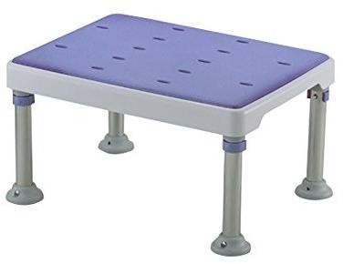 介護用品 風呂椅子 25%OFF 風呂いす 踏み台 浴槽台 ハイタイプ 高さ調節付 やわらか浴そう台GR 在庫処分 ハイタイプの浴槽台 高さ22~31cm