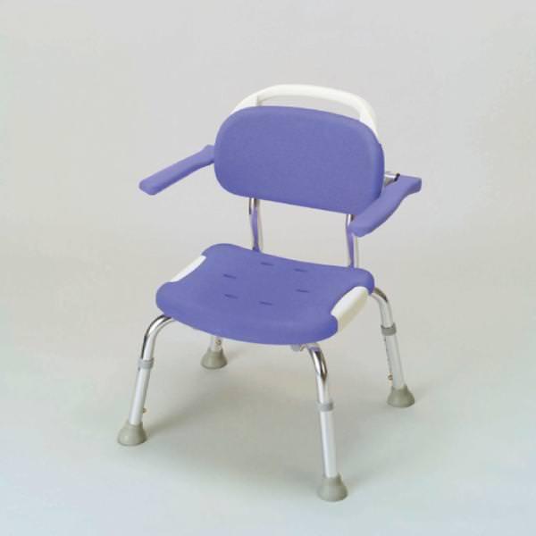 シャワーチェア 介護用品 風呂椅子 GR コンパクト 背付 肘掛け付 B04963
