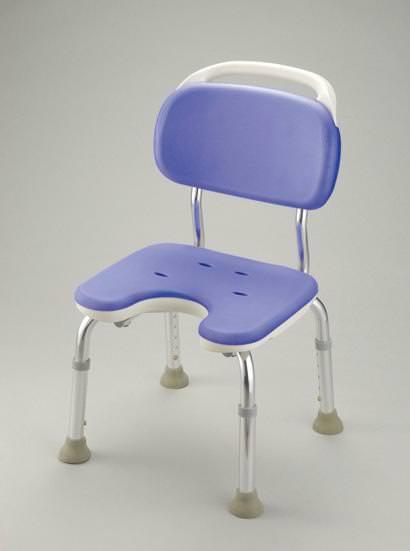 シャワーチェア ベンチシャワー 介護用品 風呂椅子 GR U型座面 コンパクト 背付 B07001