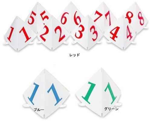 グラウンドゴルフ スタート表示板 8枚セット (No.1~No.8) GSS-3 小型三角タイプ ニチヨー グランドゴルフ