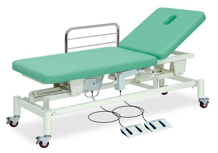 高田ベッド 有孔F型キャスター付2M電動ベッド TB-1012U 整体ベッド マッサージベッド 施術台 整骨院 治療院 リハビリ 訓練台